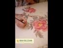 Пионы. Свободная роспись по загустке