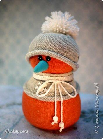 Снеговички из носочков