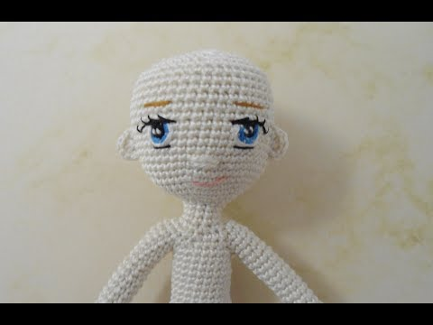 Little doll crochet Part 2 head and embroidery eyes