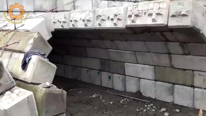 Как делают арки из бетонных блоков в Канаде