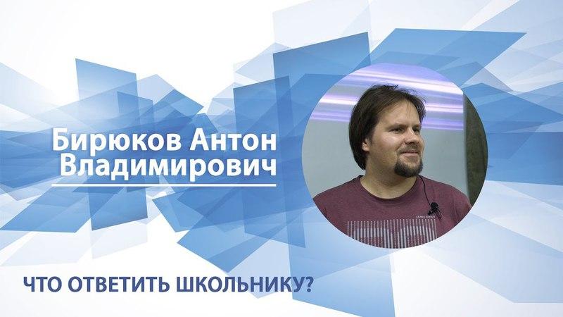 Бирюков Антон - Что ответить школьнику?