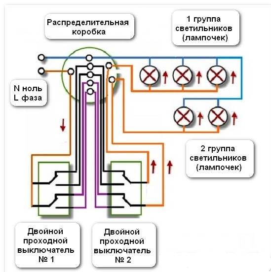 Схема управления двумя