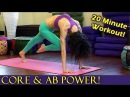 20 Minute Yoga Workout for Core Strength, Abs Arms, Power Plank Pose Fitness Training Routine