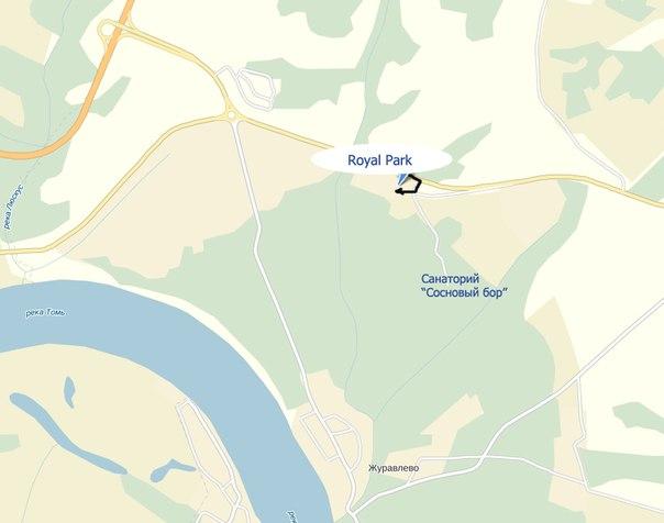 Схема проезда в RoyalPark: