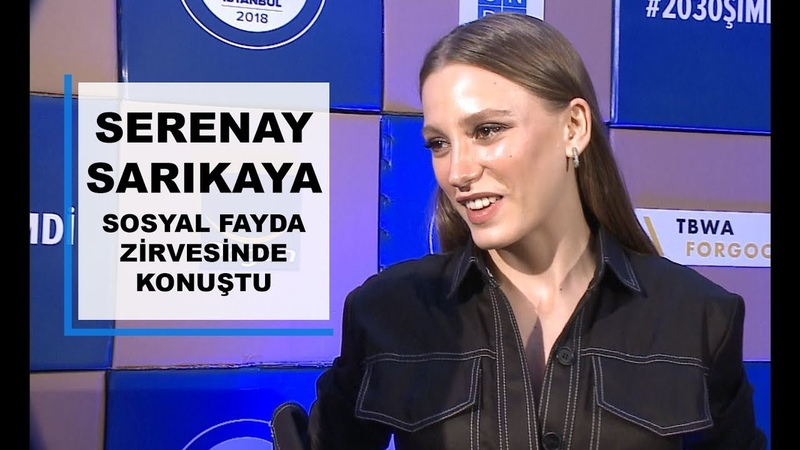 Serenay Sarıkaya, Sosyal Fayda Zirvesinde Geri Dönüşüm Projeleri Hakkında Konuştu
