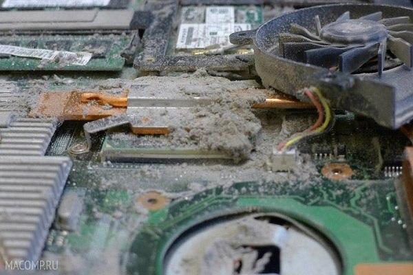 Очистка от пыли ноутбука в домашних условиях