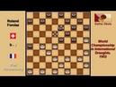 Piet Roozenburg NLD Roland Forclaz SUI Draughts World Championship 1952