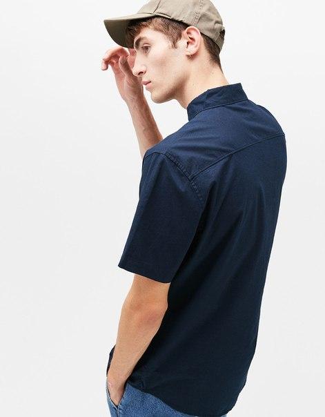 Рубашка из хлопка с короткими рукавами