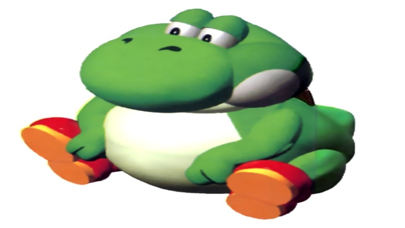 Yoshis voice but pitched down so he sounds like a grown man