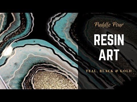 Resin Art Puddle Pour