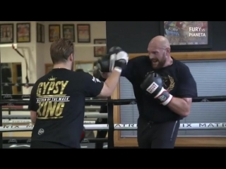 gypsyking training camp. Fury vs Pianeta