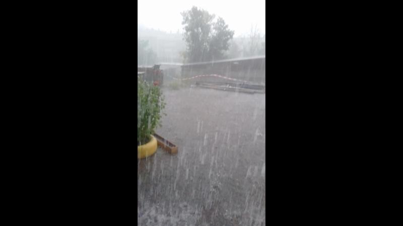 вот это да. дождь и град