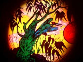 Prehistoric - Pluto liquid graphic 1976 - projected by Max's Magic Lanterns