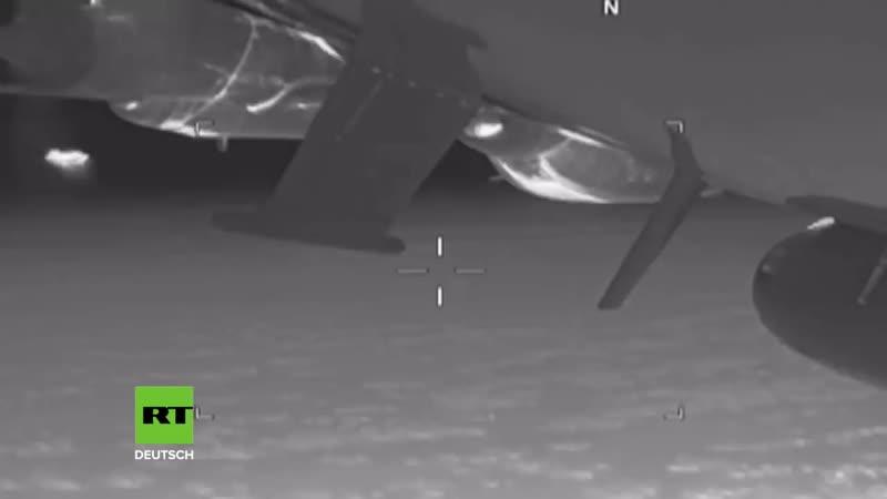 US-Militär veröffentlicht Video_ Russischer Jet fängt US-Aufklärungsflugzeug übe