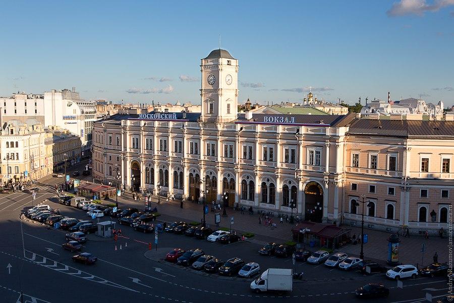 Московский вокзал с крыши