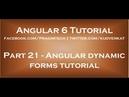 Angular dynamic forms tutorial