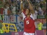 Евро-2004. Милан Барош (Чехия) - мяч в ворота сборной Германии