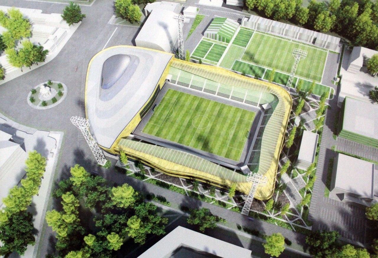 схема стадиона нефтяник