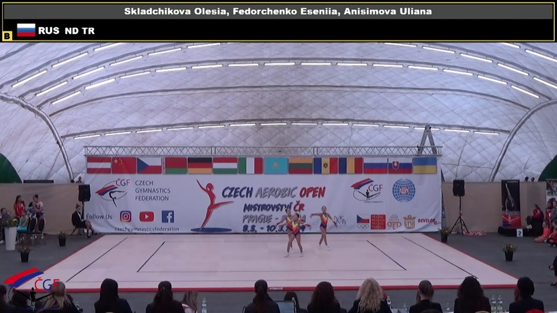 Трио СПБ Федорченко Складчикова Анисимова CZECH AEROBIC OPEN 2019 SATURDAY 014