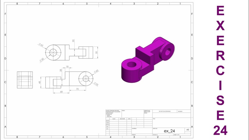 🔴 SOLIDWORKS || Beginners Tutorial || Exercise - 24 || with narration.