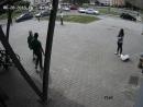 В Минске милицейский Chevrolet Niva протаранил поворачивавший BMW