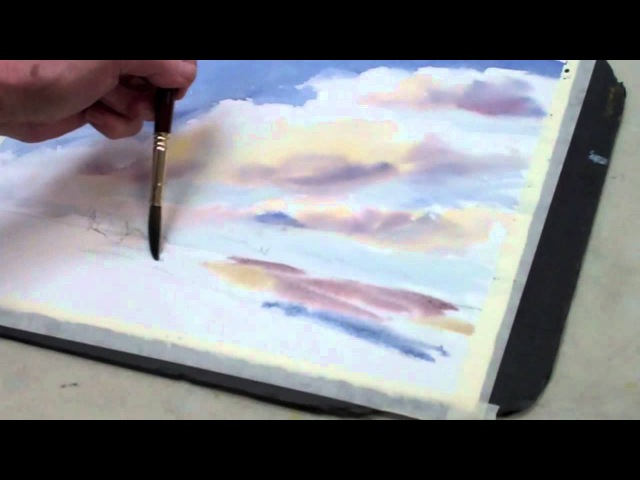 How to Paint a Watercolor Sky With Clouds The Art League School