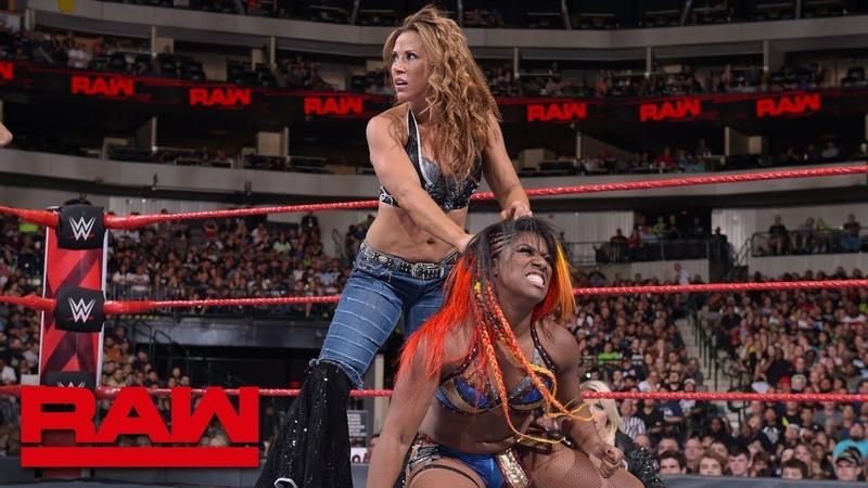 Nia Jax Ember Moon vs. Mickie James Alicia Fox: Raw, Sept. 17, 2018