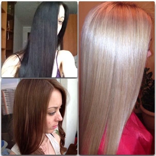 Вывести чёрный цвет волос