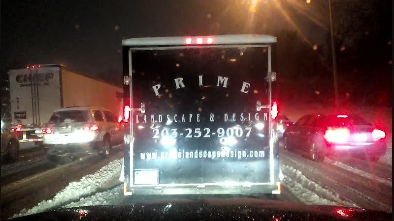 пробки в снегу