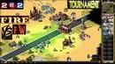 Red Alert 2 Yuri's Revenge - 2 vs 2 Tournament - [FIRE] vs [fw] on the map Country Swing