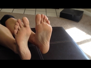 Kristin modeling her sexy feet Part 1