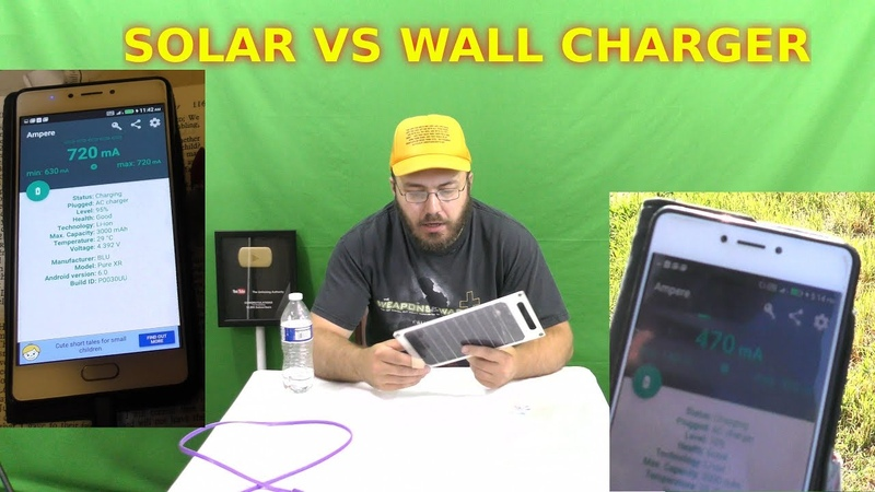 Solar Cellphone Charger 2Amp 10Watt Win or Scam Does It Work VS Wall Charger USB