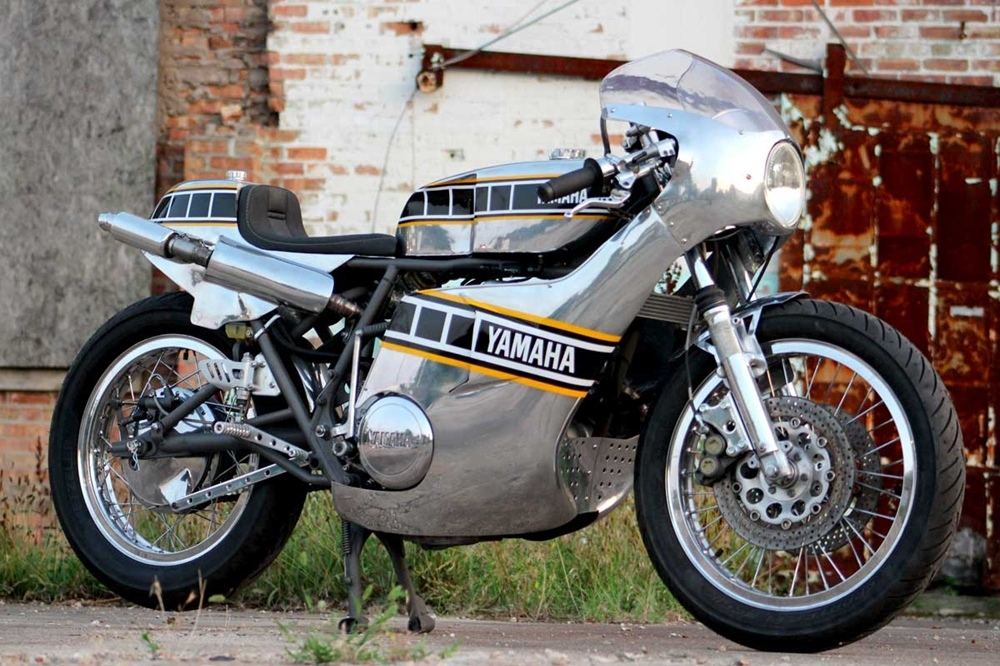 Рон Джордж: металлический кастом Yamaha TX750A