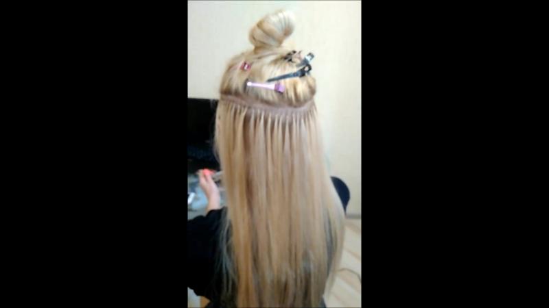 Коррекция нарощенных волос, люксовая славянка, 100 капсул