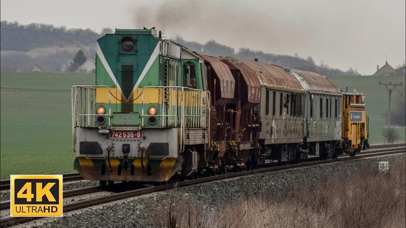 TSS 742 535-8 na Pn 56243 v úseku Dobšice nad Cidlinou - Bělá pod Bezdězem 24.3.2019 (4K)