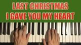 Wham! - Last Christmas (Piano Tutorial Lesson)