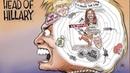 GrrrGraphics Animated toon Hillary Clinton's Crooked Cranium