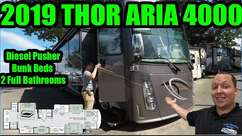 2019 Thor Aria 4000 - Diesel Pusher with Bunk Beds and 2 Full Bathrooms