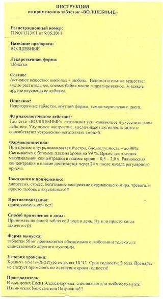 Таблетки счастья или призент на 1 апреля | метки: свой, рука, этикетка.