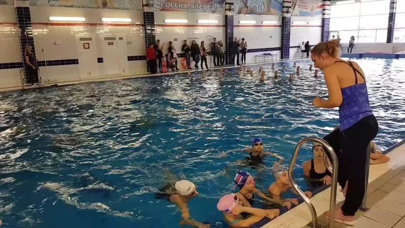 Открытый урок по синхронному плаванию в Калининграде