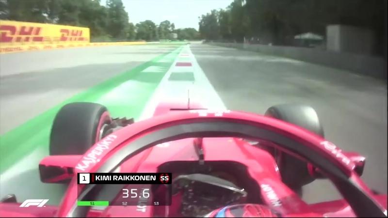 The Fastest Lap In F1 Raikkonen's Monza Pole 2018 Italian Grand Prix