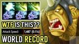 World Record 10 Hits Per Sec Max Attack Speed Alchemist Insane Build Fun Game Full Stack Farm Dota 2