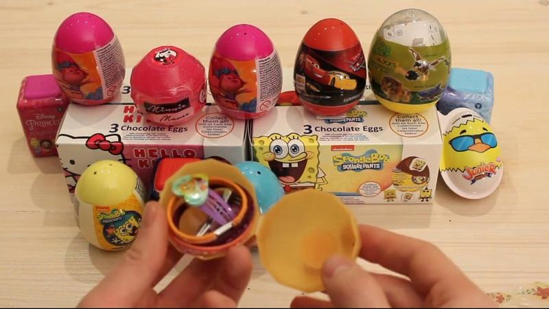 25 SURPRISE EGGS Compilation, Disney Frozen, Paw Patrol, Spongebob, Hello Kitty MORE!