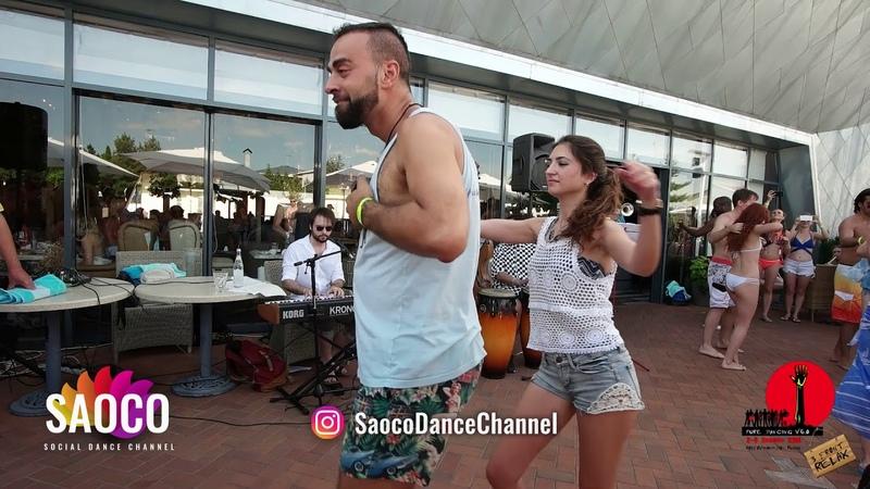 Talal Benlahsen and Nadia El Haouari Salsa Dancing in Solnechny Ciub at The Third Front, 04.08.2018