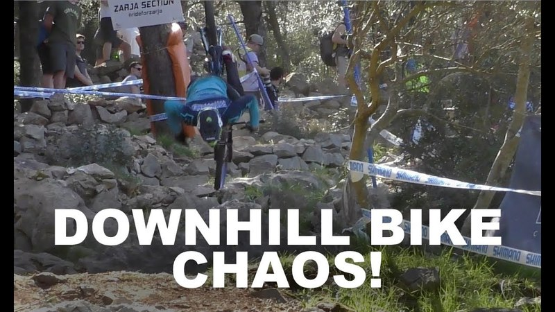 DOWNHILL BIKE CHAOS! Croatia World Cup DH Slow Motion Sickness