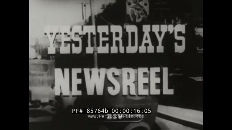 YESTERDAYS NEWSREEL SARAH BERNHARDT BUCKY HARRIS WWI ATTACKS ON LONDON OBREGON 85764b