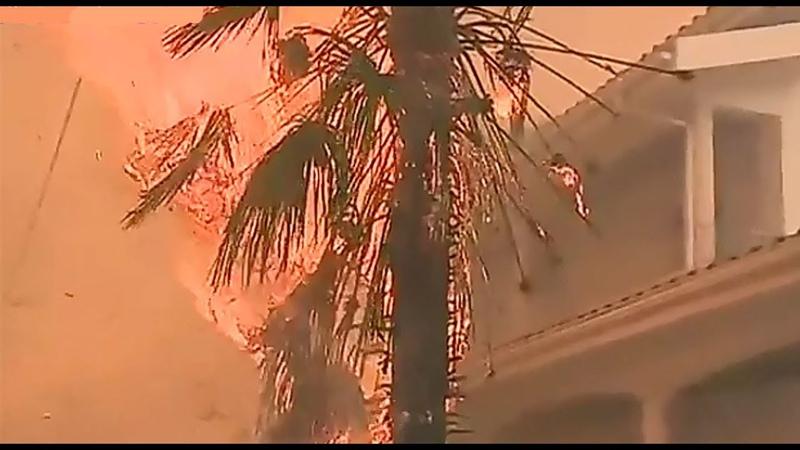 АД НА ЗЕМЛЕ - Ураган АФЕЛИЯ принёс пожары в Португалию