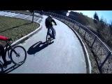 Вело Открытие 2014 догоняем колону после прокола колеса Серёги