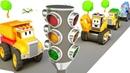 Apprendre les couleurs avec les véhicules Feux de circulation pour les enfant