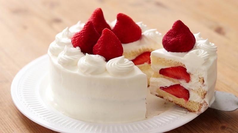 いちごのショートケーキの作り方*クリスマスレシピ Chantilly Fraise|HidaMari Cooking